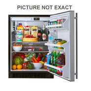 61ARM 24  W All Refrigerator - Black Cabinet, Blac