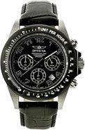 Speedway Leather Chronograph Mens Watch 10707
