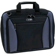 535768 Single Gusset Black/Grey Portfolio Bag