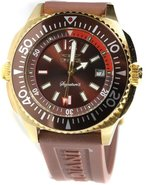 Signature II Gold-Tone Rubber Mens Watch 7357