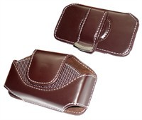 Horizontal Leather Carrying Case For Motorola RAZR