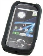 Black Silicone Skin Case For Motorola i1