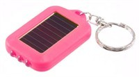 Pink Mini Pocket Solar Power LED Flashlight
