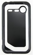 Black & White TPU Back Cover For HTC DROID Incredi
