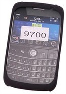 Black Silicone Skin Case For BlackBerry Bold 9700,