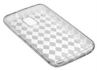 Clear Diamond Pattern TPU Skin Case For Samsung Ga