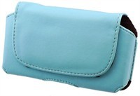 Light Blue Leather Carrying Pouch Case For Samsung