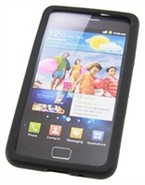 Black Silicone Skin Case For Samsung Galaxy S II /