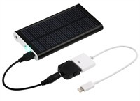Compact Solar Charger With Backup Battery For Appl