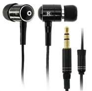 Black Twin Ear Buds 3.5mm Stereo Headset (Without 