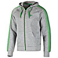 Adidas          Core Essentials 3-S Full-Zip Hoodie