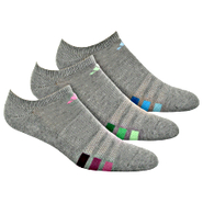 Cushioned Variegated No Show Socks 3 PR
