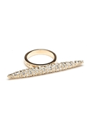Pave Spear Ring - Gold - 7