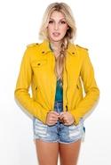 The Zip Moto Jacket in Light Olive - Light Olive -