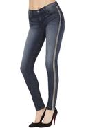 J Brand 8820 Kacie Skinny with Leather Contrast -