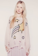 Wildfox Shooting Star Lennon Sweater in Lipstick P