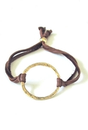 Bijouterie Leather Karma Bracelet - Tan/Gold
