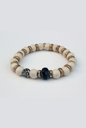 Bijouterie Light Wood Stone Rose Bracelet - Wood