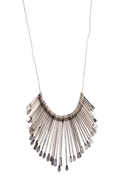 Cascading Sunburst Necklace - Silver