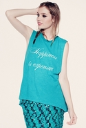 SALE-Wildfox Happiness is Expensive Muscle Tank -