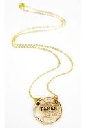 Single Taken Necklace - Gold