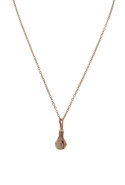 Talon Black Diamond Pave Necklace - Rose Gold
