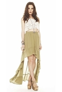 SALE-Mink Pink Split Personality Hi Low Skirt - Mo