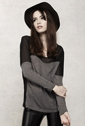 SALE-LnA Heartford Top - Grey - Large