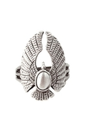 The Lakota Falcon Ring - Silver - 8