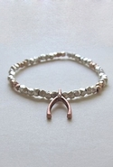 Bijouterie Pyrite Wishbone Bracelet in Rose Gold -