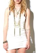 Juliet Statement Necklace in White