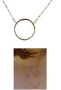 Adina Small Signature Circle in Gold