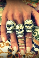 Skull Ring - Bone - One Size Fits All