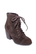 SALE-Witch Way Lace Up Bootie - Brown - 5.5