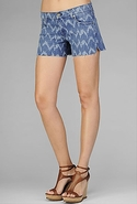 SALE-7 For All Mankind Carlie Short in Ikat - Ikat