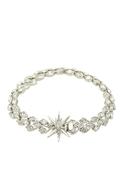 Vintage Glamour Pave Bracelet - Silver