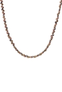 Mixed Metal Skull Bead Necklace - Mixed Metal