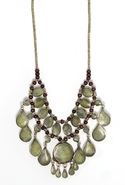 . Cassidy Necklace - Moss