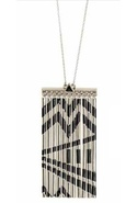 Metal Fringe Necklace in Silver