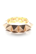 Heavy Metal Spike Bracelet - Gold