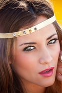 Joplin Collection Spiky Headband - Gold Metallic
