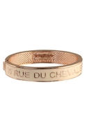 Couture Jewelry Enamel Hinge Bracelet Cream