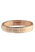Couture Jewelry Enamel Hinge Bracelet Cream