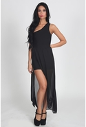 FINAL SALE-Stretta Siwa Dress - Black - Large