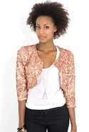 SALE-Simple Sparkle Jacket - Rose - Small