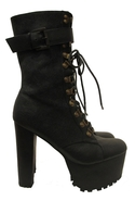 x Jeffrey Campbell Sergeant Pepper Bootie - Black