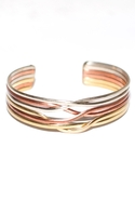 . Tri Metal Bracelet - Tri-metal