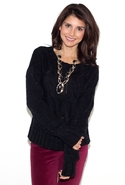 Chain Link Knit Sweater - Black - Small