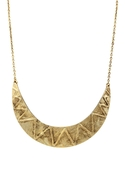 Zig Zag Tribal Collar Necklace - Gold
