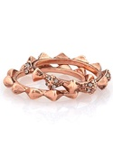 Spike Stack Ring Set in Rose Gold 5